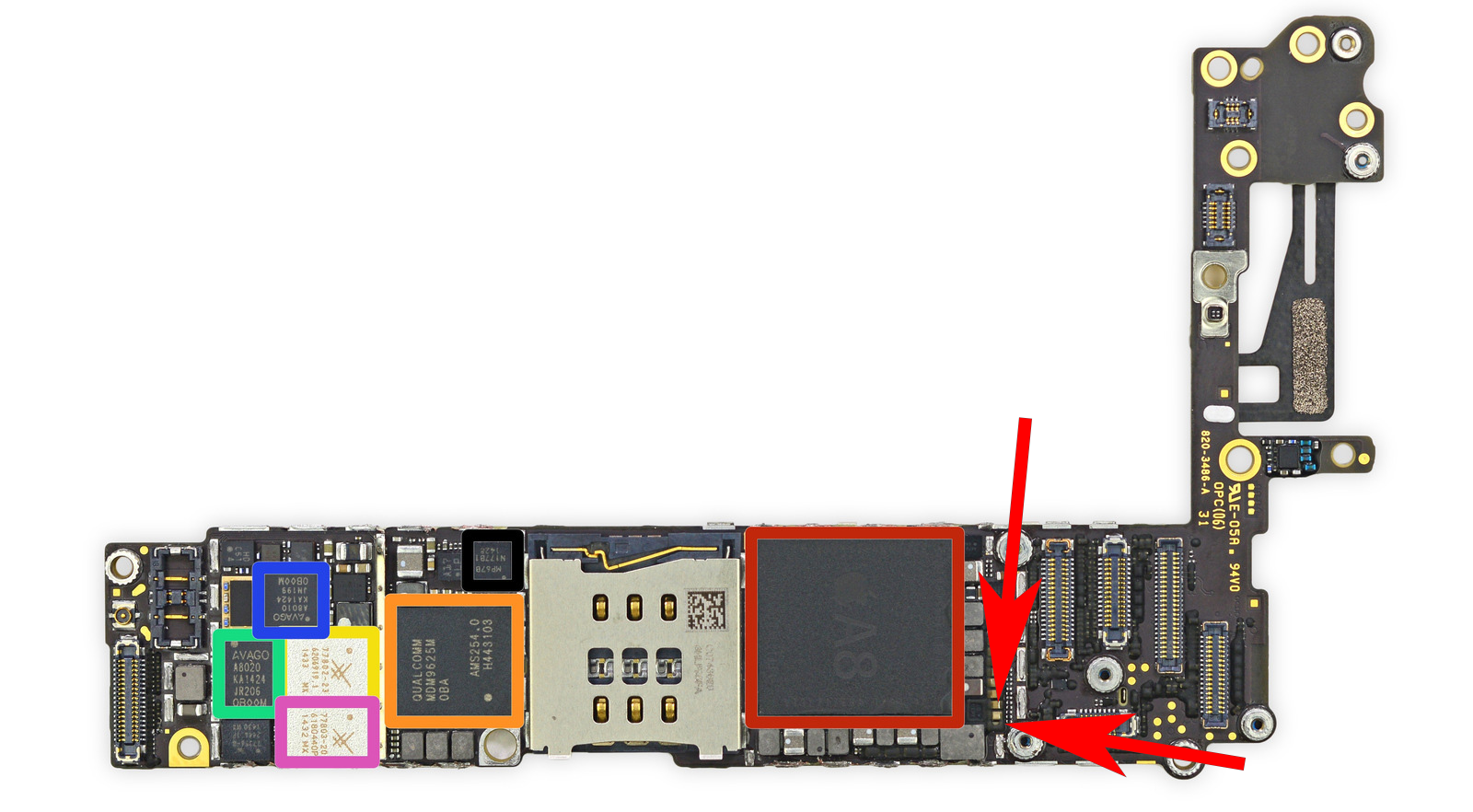 How to fix iPhone 6 dead, Short circuit.