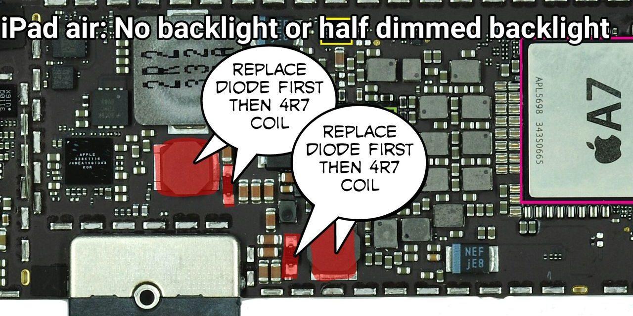 iPad Air Backlight or Half Dimmed Light Repairs Brisbane